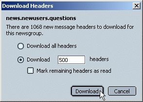 Number of message headers